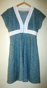 Réalisation robe kimono Burda en voile de coton