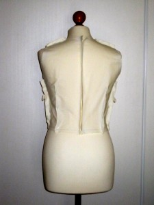 image haut de la robe Burda 7556 - dos