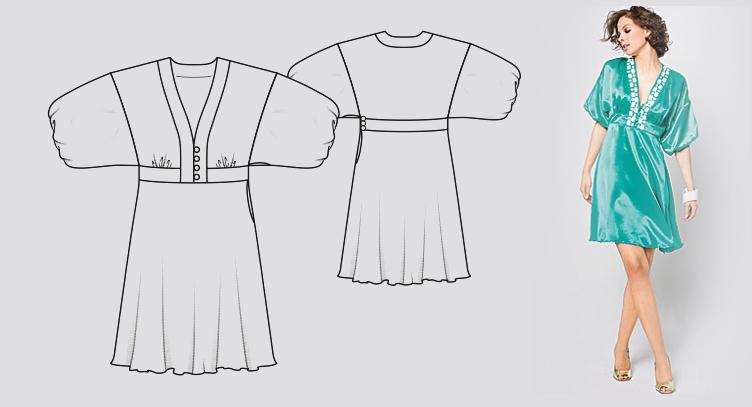 modele  A Burda Kimono Dress