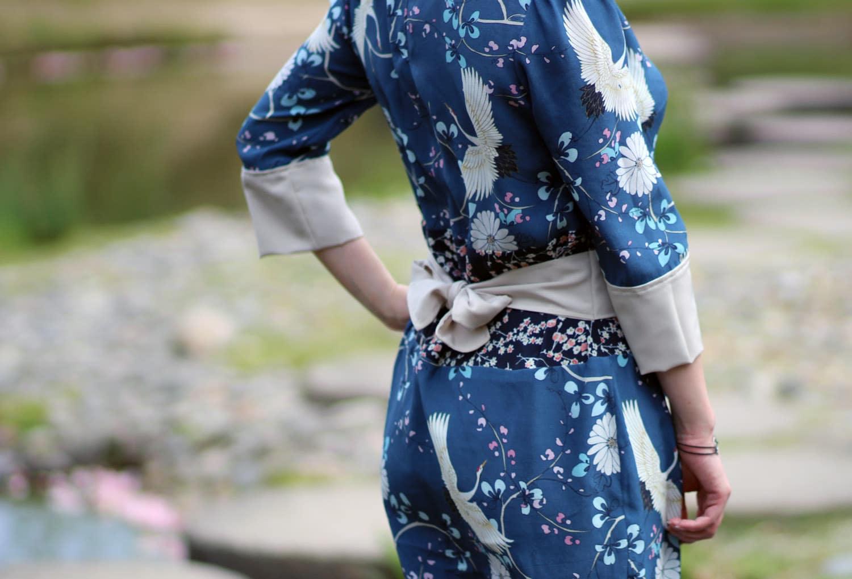 robe Hazel japonaise-detail-coté