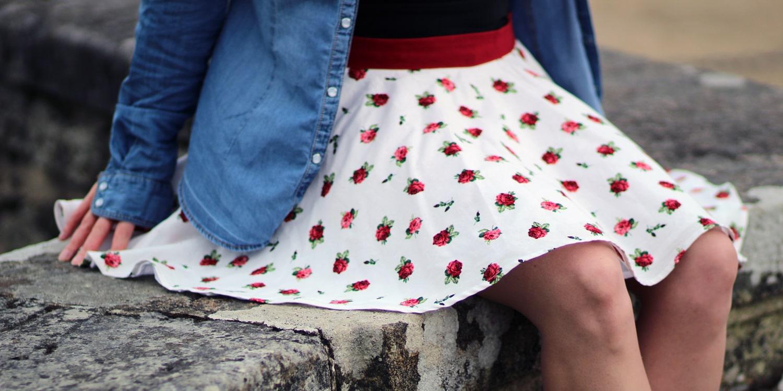 mini jupe circulaire pano