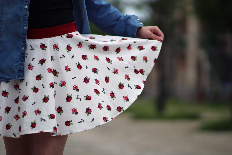 mini jupe circulaire side