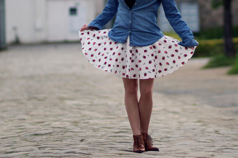 mini jupe circulaire zoom 1