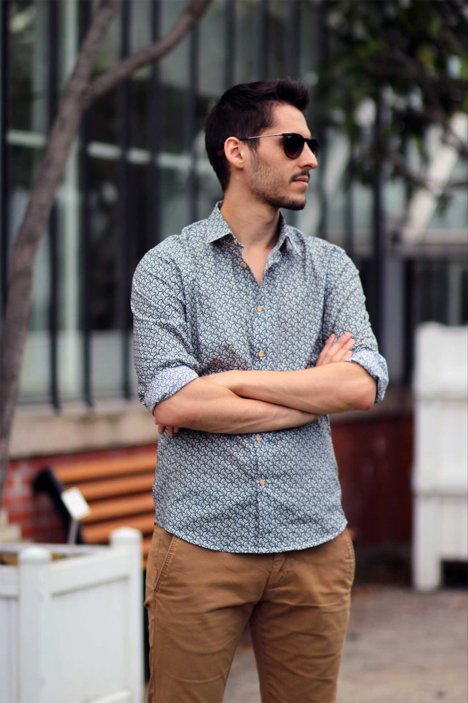 chemise à motifs pour homme - entier