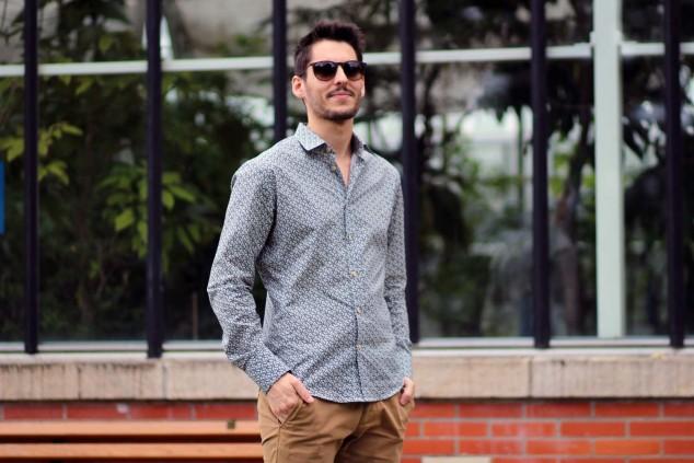chemise à motifs pour homme - paysage