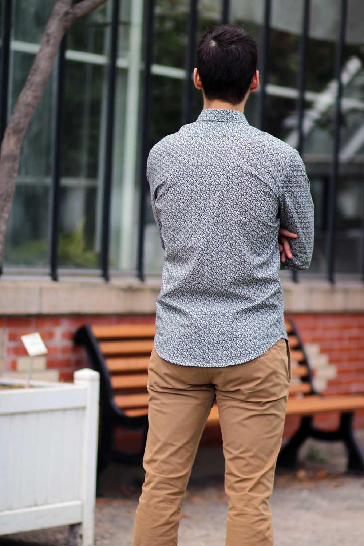 chemise homme à motifs - dos
