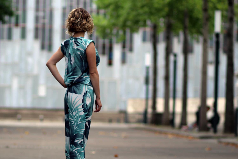 couture addicted - combinaison Bergamote - dos
