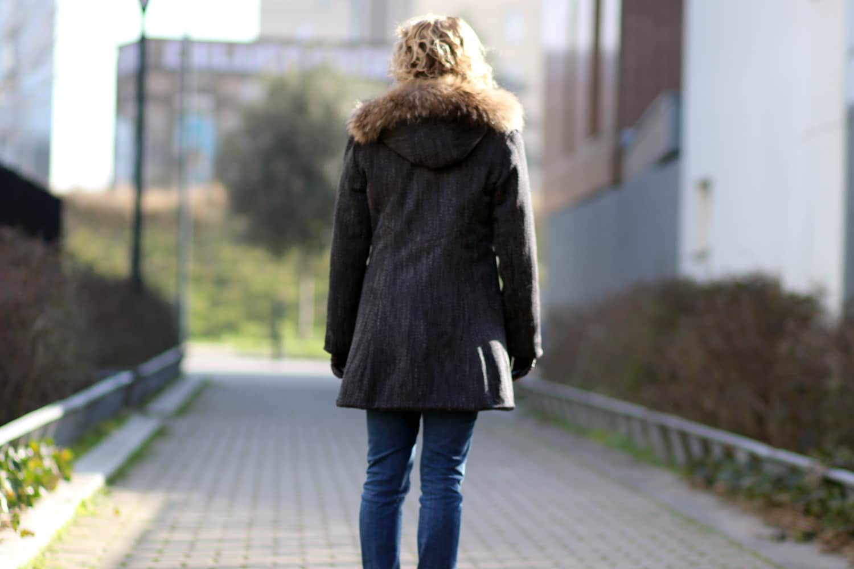 manteau le precieux - couture addicted - dos sans capuche
