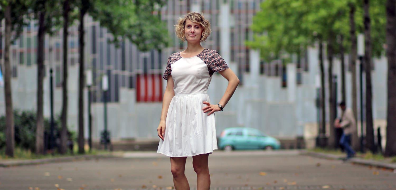 Robe Opale à manches courtes - Grains de Couture