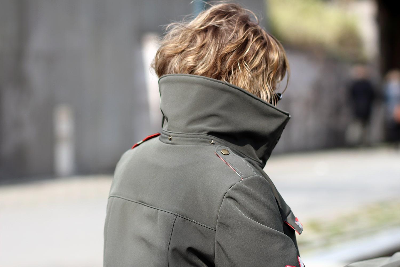 tosti utility jacket - détail col