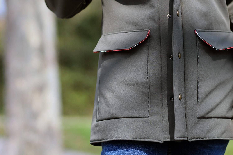 tosti utility jacket - poches