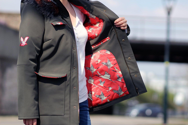 tosti utility jacket - détail intérieur