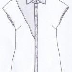 Image modèle chemise triangle Ottobre