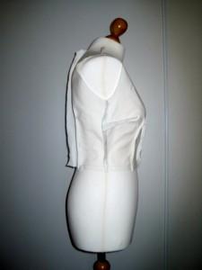 image haut de la robe Burda 7556 - côté