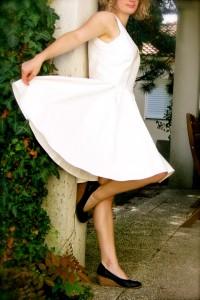 image de ma robe Burda en coton écru